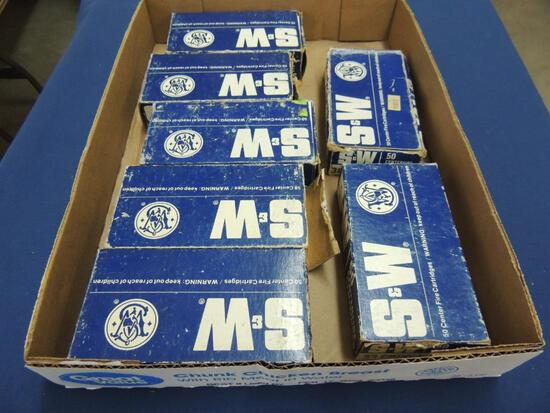 Large Lot of Smith & Wesson 38 Special Wad Cutter Ammo