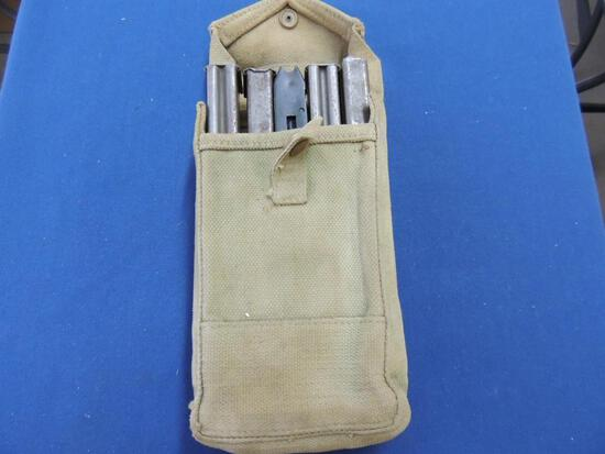 Five Military Stick Mags and Case