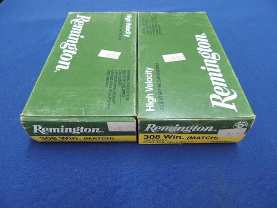 Two Full Boxes of Remington 308 Win Match