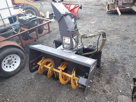 Like New Edge Skid Steer Snow Blower Attachment