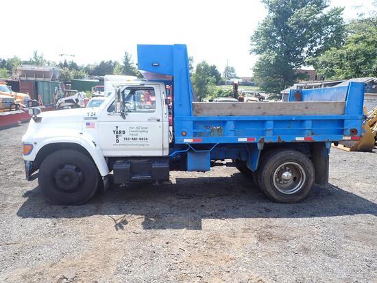 1997 Ford F Series Diesel Dump Truck