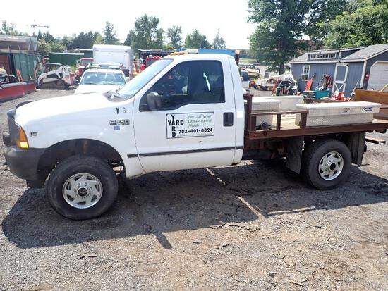 2001 Ford F250 Flat Bed Truck