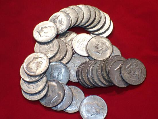 Forty Clad Kennedy Half Dollars