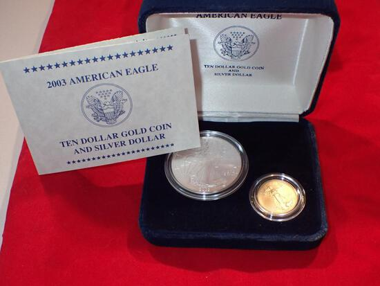 2003 American Eagle Two Coin Set