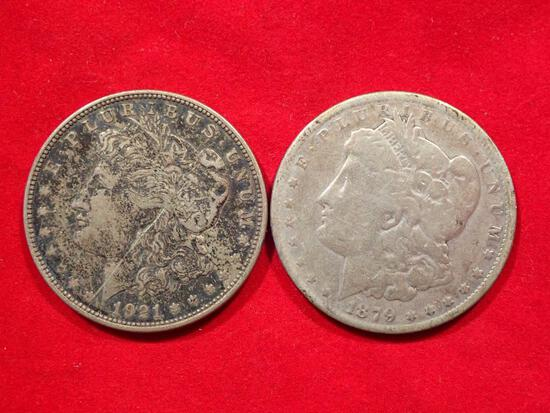 Two Morgan Dollars