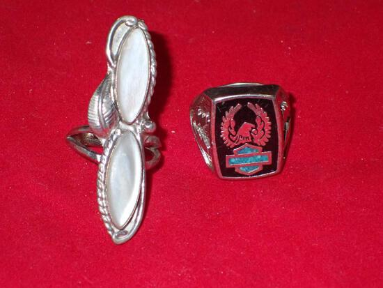 Two Mexican Silver Rings