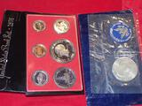 Bicentennial Proof Set and 1971 Eisenhower Silver Dollar
