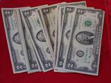 Twenty $2 Bills