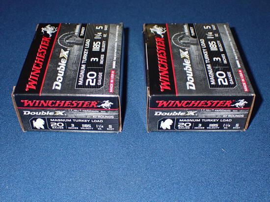 Two Boxes of Winchester 20 Gauge Magnum Turkey Load