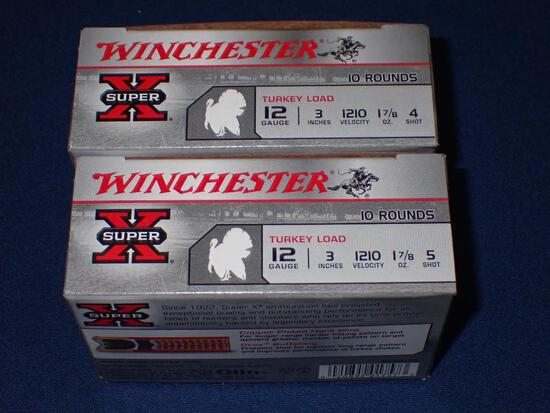 Two Boxes of Winchester Super X 12 Gauge Turkey Loads