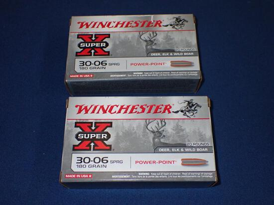 Two Boxes of Winchester 30-06 Ammunition