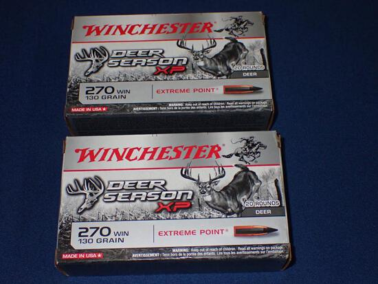 Two Boxes of Winchester 270 Ammo