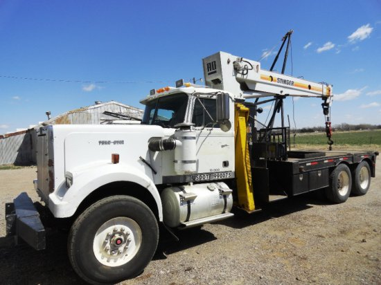 1985 Western Star Boom Truck W Stinger Boom 13 Speed Road