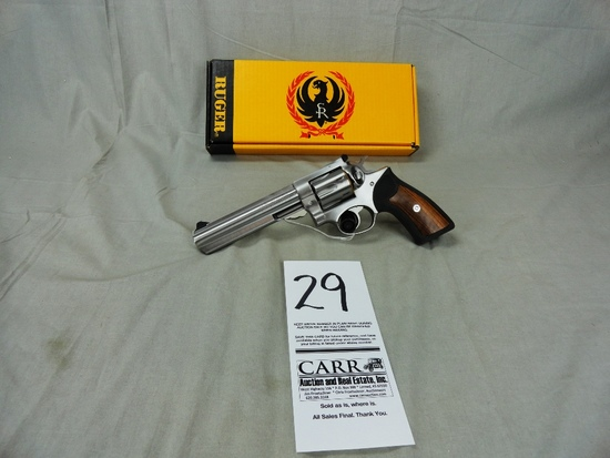 """Ruger GP100, 357 Org  Cardboard Box, Stainless, 6"""" Bbl"""