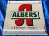 """Albers Carnation Product Painted Tin, Single Side, 18"""" x 16"""""""