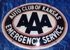 "AAA Auto Club of Kansas, 30"" x 23"", Double Sided Porcelain"
