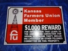 """KS Farmers Union Member Tin, 18"""" x 12"""""""