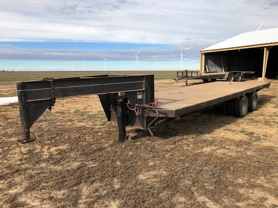 1978 WW Steel on Wood 8' x 22' Gooseneck Trailer, 24,000#, SN:064677