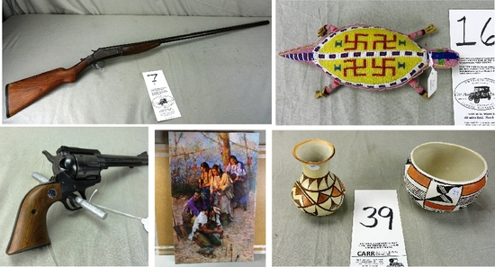 FIREARMS and INDIAN ARTIFACTS!