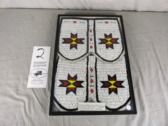 """""""Plateau"""" Fully Beaded Leggings from Darrell Williams Collection (Probably Crow or Nes Perce.)"""
