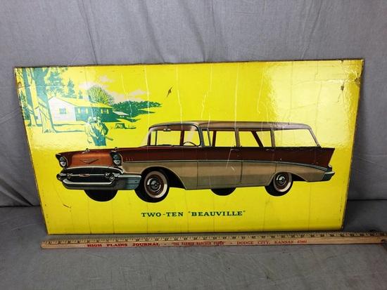 """Two-Ten """"Beauville"""" Window Board Advertisement"""