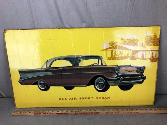 Bel Air Sports Sedan Window Board Advertisement