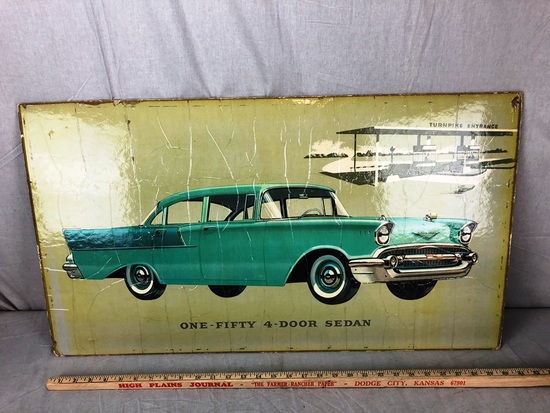 One-Fifty 4-Door Sedan Window Board Advertisement
