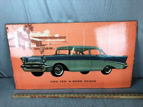 Two-Ten 4-Door Sedan Window Board Advertisement