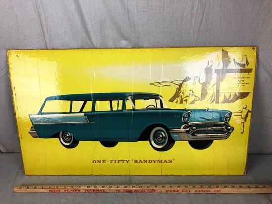 """One-Fifty """"Handyman"""" Window Board Advertisement"""