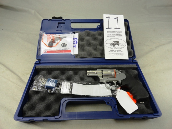 "Colt Cobra .38 SPL, Stainless Matte, 2"" Bbl., Fiber Optic Front Sight, M.SM2F0 SN:RA545200, NIB (Han"