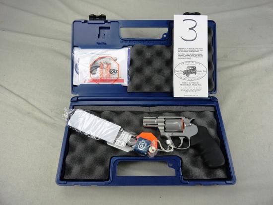 "Colt Cobra .38 SPL, Stainless Matte, 2"" Bbl., Fiber Optic Front Sight, M.SM2F0, SN:RA544514, NIB (Ha"