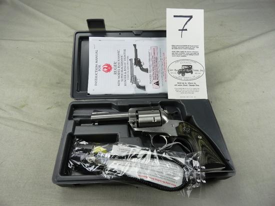 Ruger Super Black Hawk 44 Rem Mag, Stainless M.00818, SN:89-07604, NIB (Handgun)