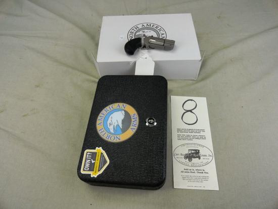 North American Arms Pug 22 Mag, White Dot Sights M.NAA-PUG-D, SN:PG39989, NIB (Handgun)