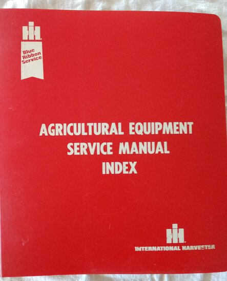 Agricultural Equipment Service Manual Index