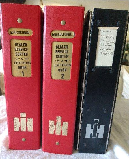 IH empty 3 ringer binders, set of 3