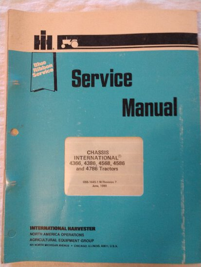 Service Manual Chassis Inter.  4366,4386,4568,4586 & 4786 tractors