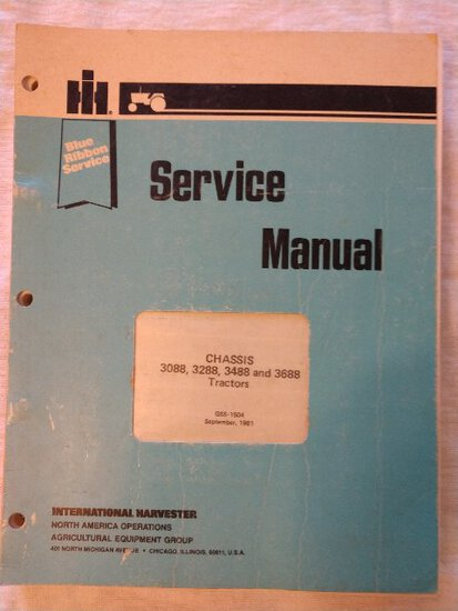 Service Manual Chassis 3088, 3288, 3488 & 3688 tractors