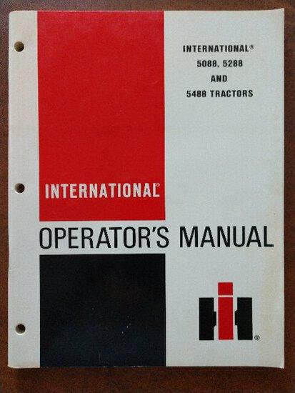 International 5088,5288 and 5488 Tractors  - 2 NIP