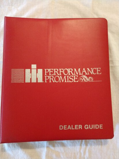IH Performance Promise Dealers Guide & Inside Cover