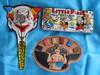 Mixed vintage toys :- US Metal Toy Co tin litho clown clapper 20cm. English