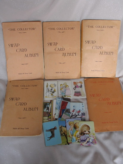 Five vintage Playing Card albums full of playing cards and 60 plus extras.