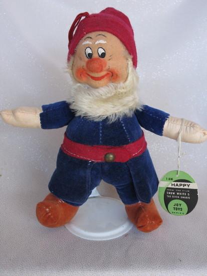 "Rare Joy Toys ""Happy"" from 1930s Snow White & Seven Dwarfs movie, 8"" (20cm)"