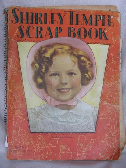 Shirley Temple ephemera:- full 1930s scrapbook, Standee 41cm, Four ST Hits