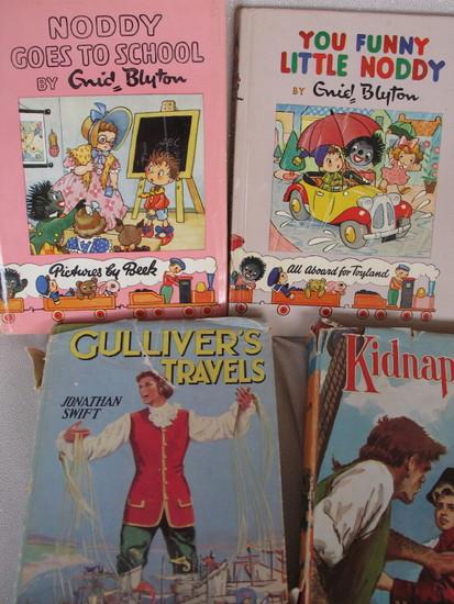 Seven vintage Kids Books. Three Noddy / You Funny Little Noddy 1955 / Goes