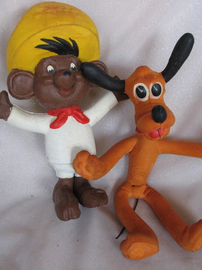 Vintage Cartoon toys:- Warner Bros. bendy Speedy Gonzales 60s foam rubber 2