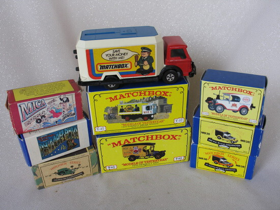 MIB eight Matchbox MICA convention LE cars:- 1988 MB38 van & 1989 MB38 van