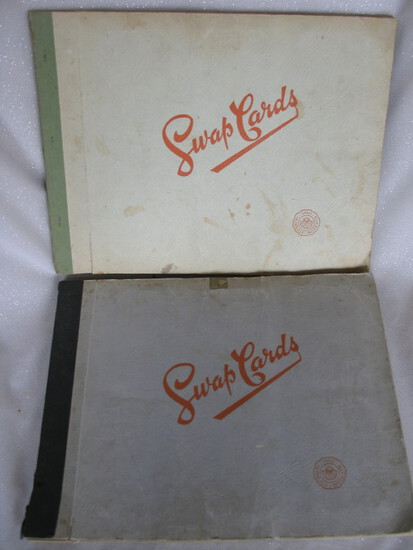 Two vintage Playing / Swap Card albums c1950s. Full of 240 plus cards inclu