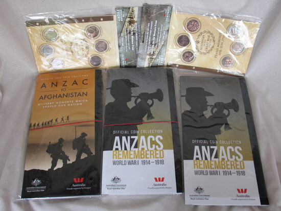 "Australia in Great War ""Penny Memories"" 1914 & 1915 original binders with p"