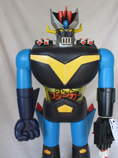 TV 1970s Japan Grendizer Robot Warrior 59cm with six firing missiles. Also