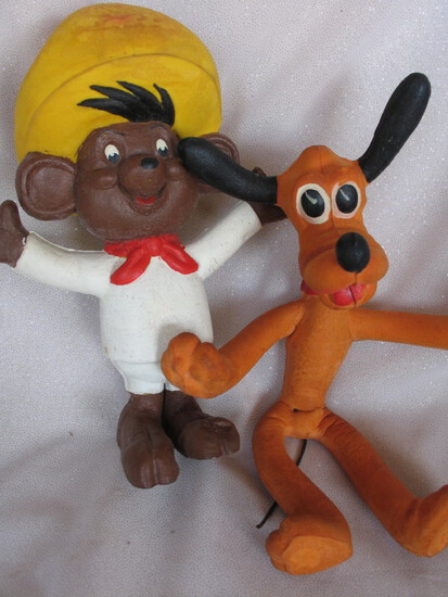 Vintage Cartoon toys:- Warner Bros. bendy Speedy Gonzales 60s foam rubber 2